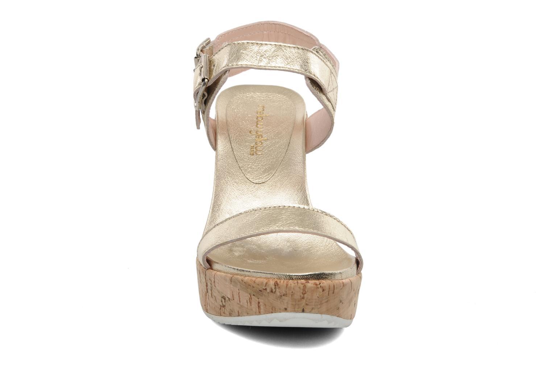 Sandales et nu-pieds Mellow Yellow Polaris Or et bronze vue portées chaussures
