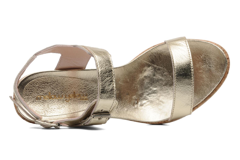Sandales et nu-pieds Mellow Yellow Polaris Or et bronze vue gauche