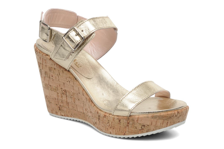 Sandales et nu-pieds Mellow Yellow Polaris Or et bronze vue détail/paire