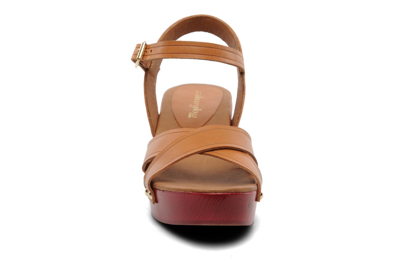 Sandales et nu-pieds Mellow Yellow Potofeu Beige vue portées chaussures