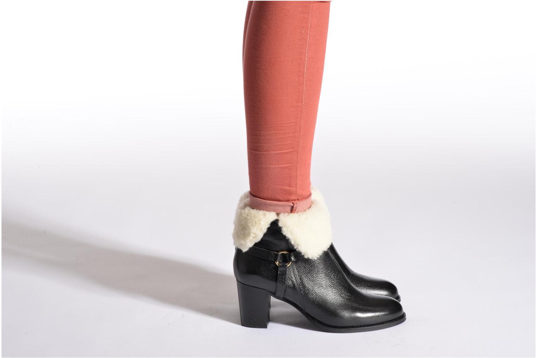 Bottines et boots Georgia Rose Chalet Noir vue bas / vue portée sac