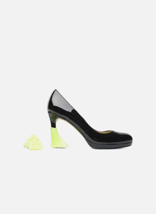 Plejeprodukter Heelbopps Hælbeskytter Gul detaljeret billede af skoene
