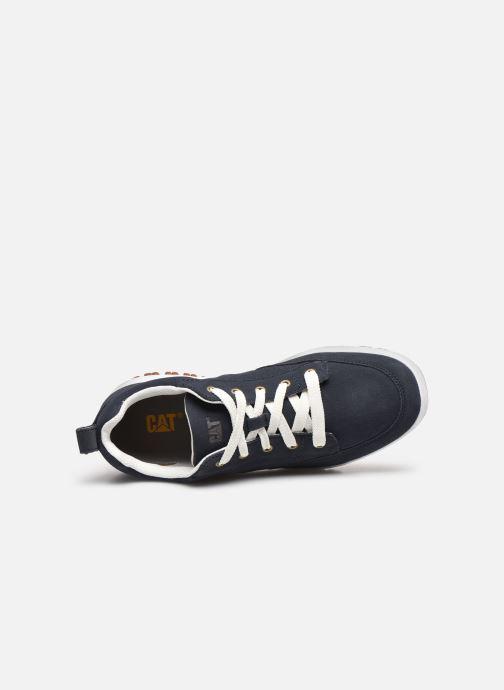 Sneaker Caterpillar Decade blau ansicht von links