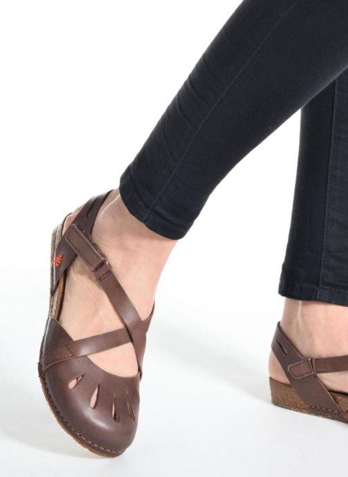 Sandales et nu-pieds Art Creta 449 Noir vue bas / vue portée sac