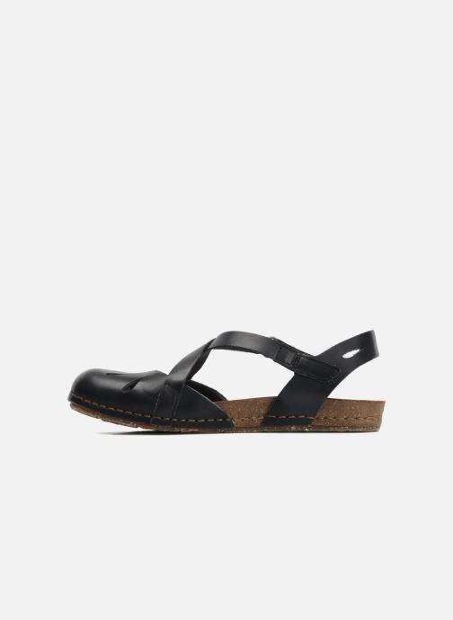 Sandales et nu-pieds Art Creta 449 Noir vue face