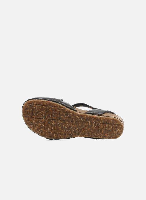 Sandales et nu-pieds Art Creta 449 Noir vue haut