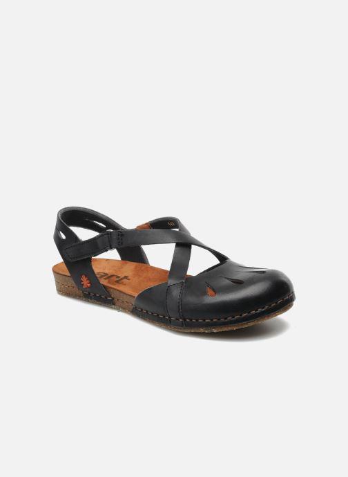 Sandals Art Creta 449 Black detailed view/ Pair view