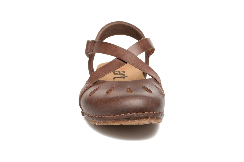 Sandales et nu-pieds Art Creta 449 Marron vue portées chaussures