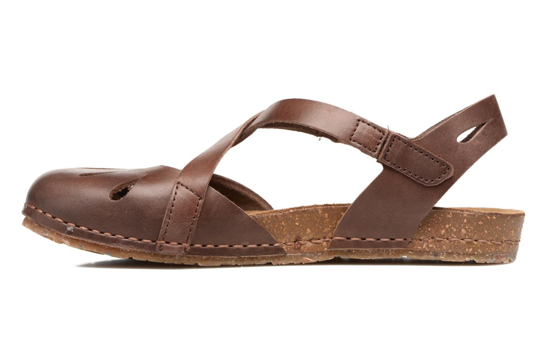 Sandales et nu-pieds Art Creta 449 Marron vue face