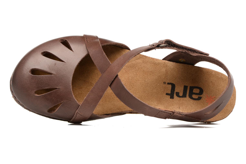 Sandales et nu-pieds Art Creta 449 Marron vue gauche