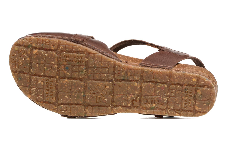 Sandales et nu-pieds Art Creta 449 Marron vue haut
