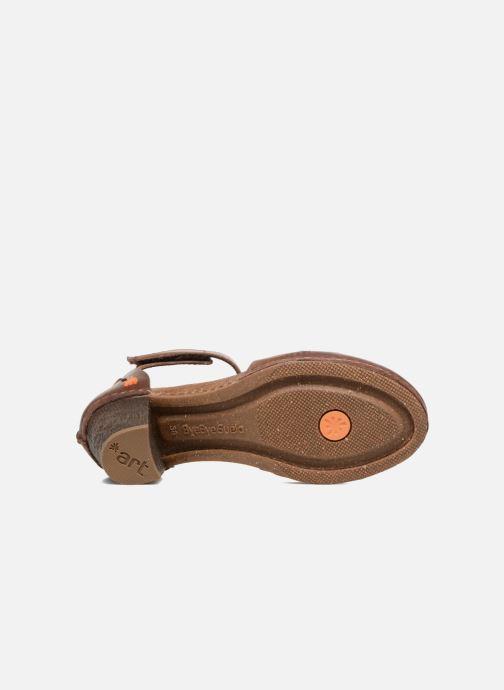 Sandales et nu-pieds Art I Meet 144 Marron vue haut