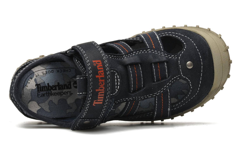 Sneaker Timberland EK Castleton Fisherman blau ansicht von links