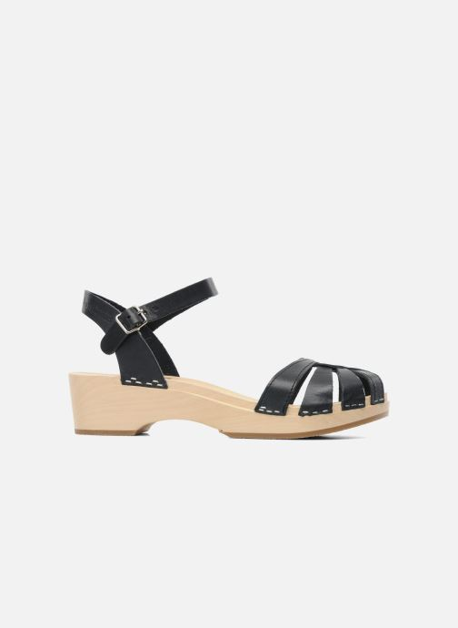 Sandals Swedish Hasbeens Cross Strap Debutant Black back view