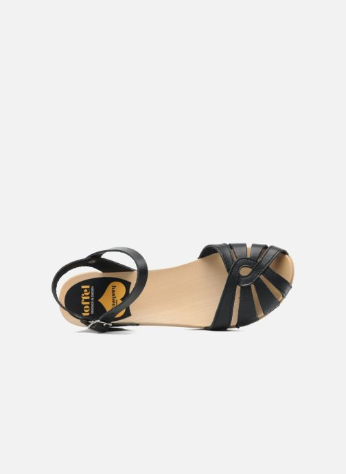 Sandalen Swedish Hasbeens Cross Strap Debutant Zwart links