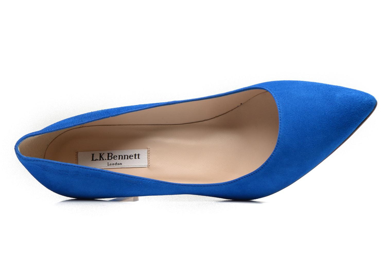 Escarpins L.K. Bennett Floret Bleu vue gauche
