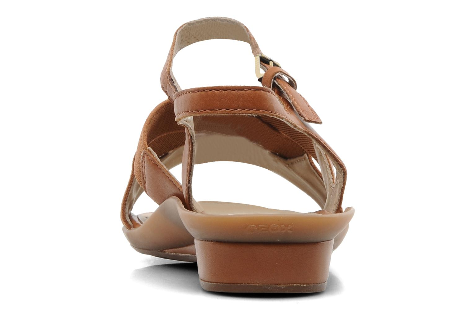Sandals Geox D Emelyne B Brown view from the right