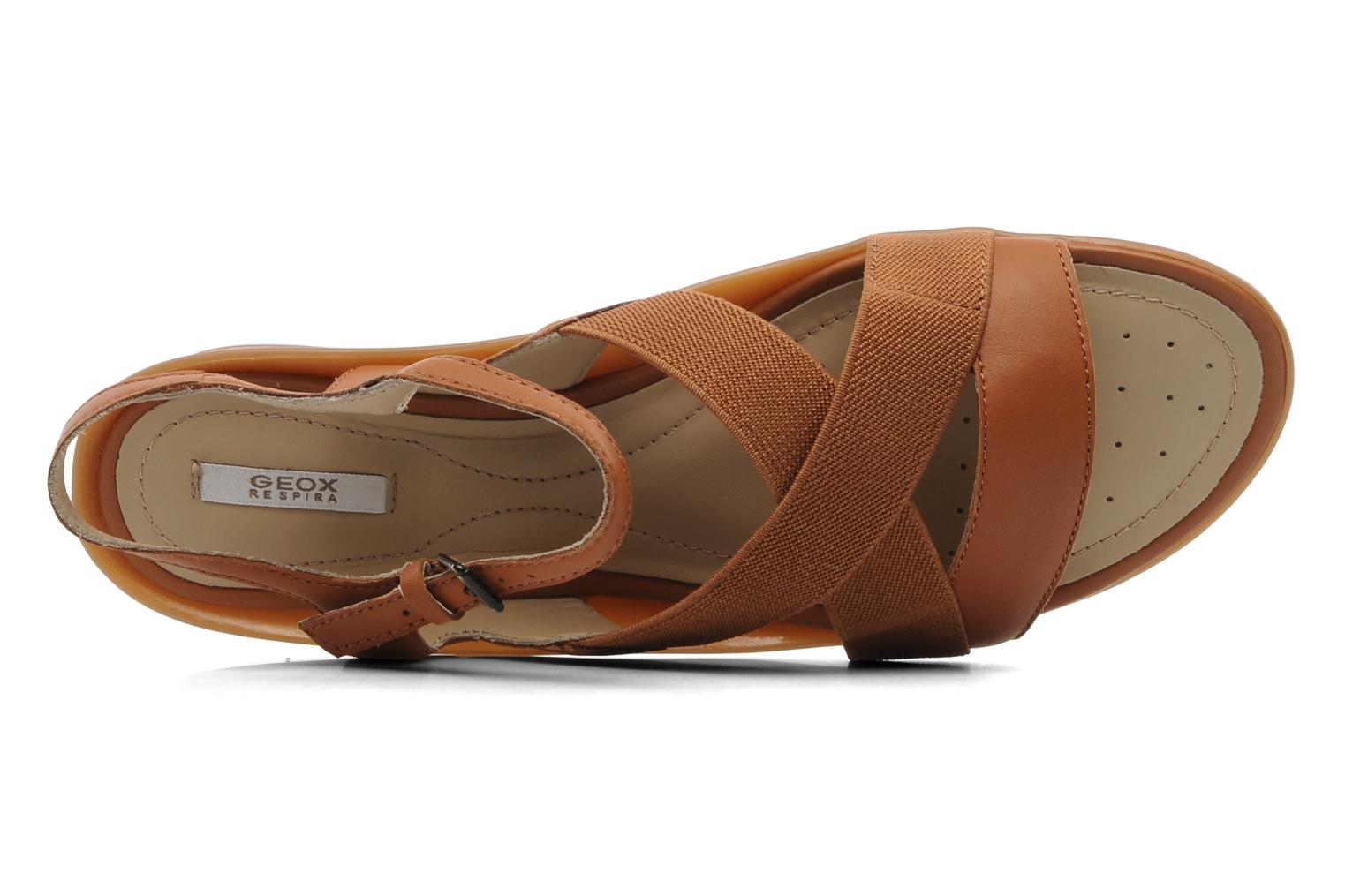 Sandals Geox D Emelyne B Brown view from the left