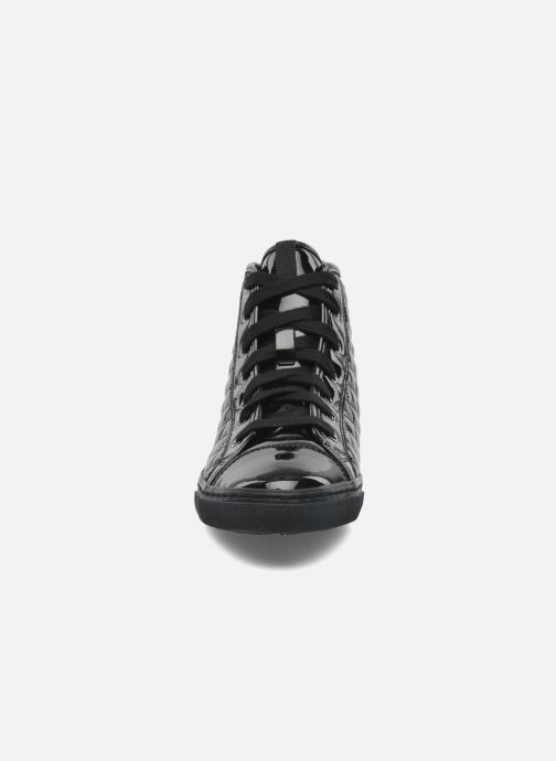 Sneaker Geox D NEW CLUB D D4458D schwarz schuhe getragen