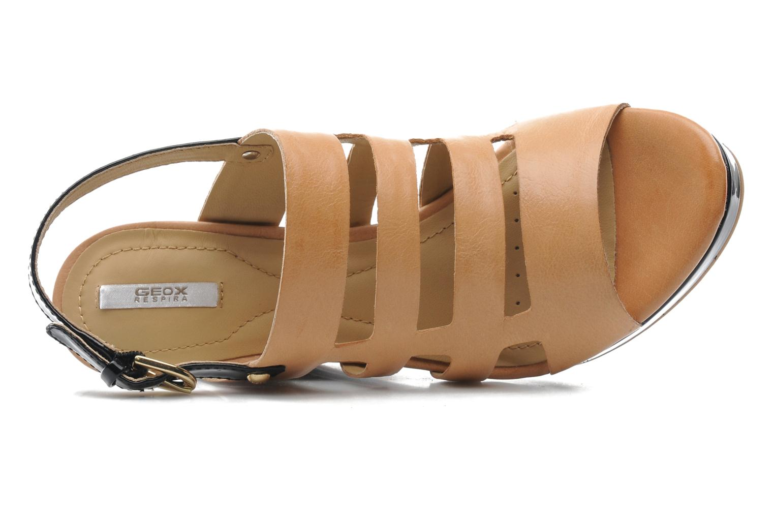 Sandals Geox D Sibilla S. B Beige view from the left