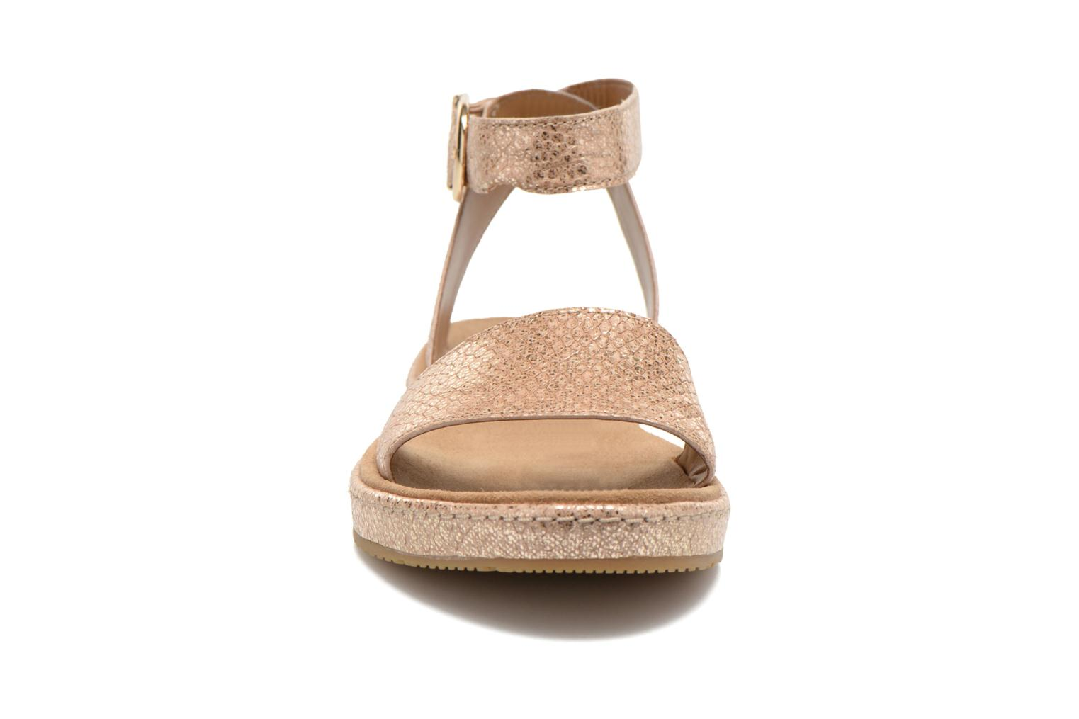 Sandals Clarks Romantic Moon Bronze and Gold model view