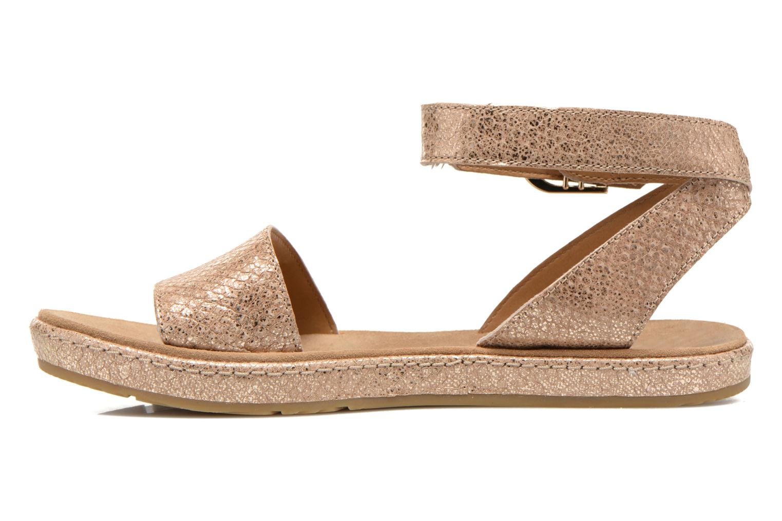 Sandals Clarks Romantic Moon Bronze and Gold front view