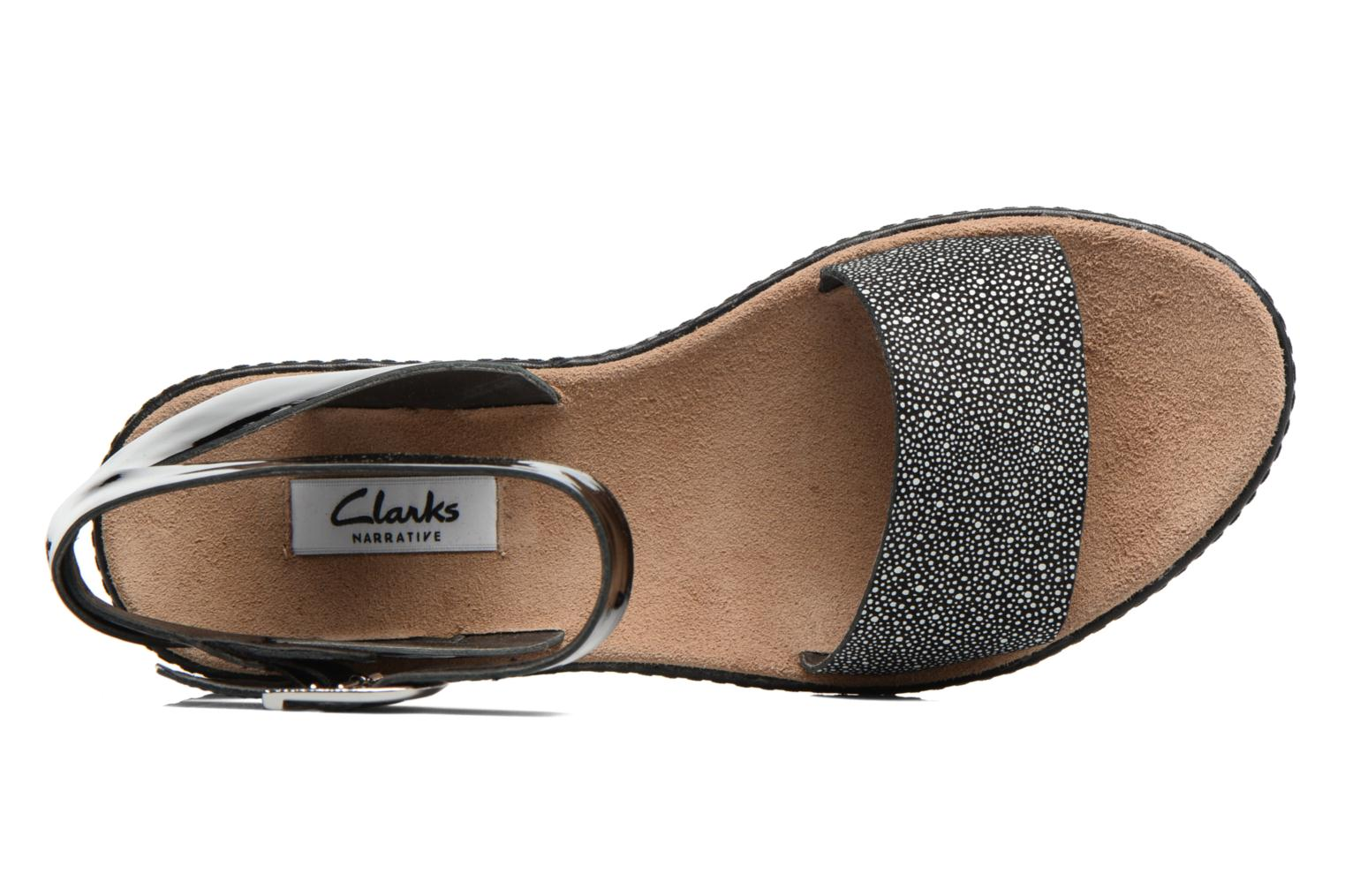 Sandals Clarks Romantic Moon Black view from the left