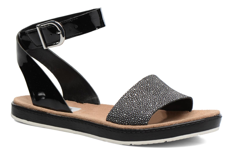 Sandales et nu-pieds Clarks Romantic Moon Noir vue détail/paire