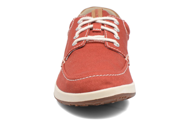 Baskets Clarks Norwin Vibe Rouge vue portées chaussures