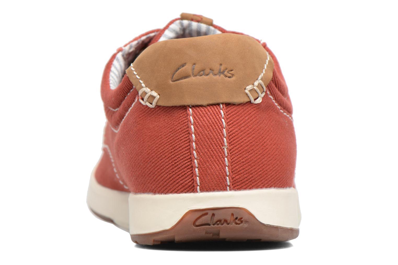 Baskets Clarks Norwin Vibe Rouge vue droite