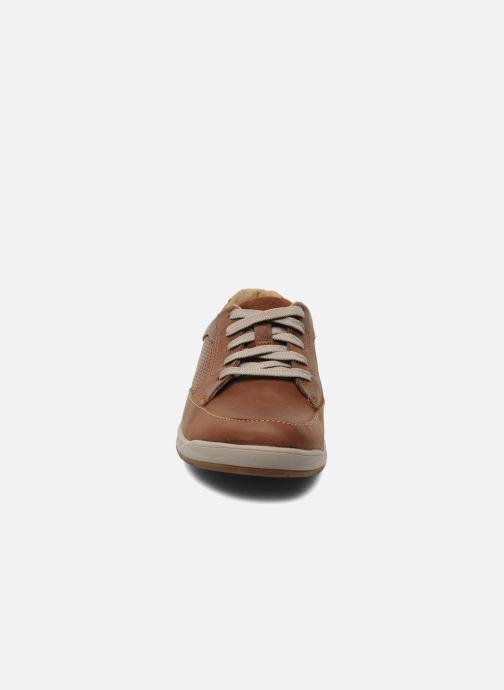 Baskets Clarks Unstructured Stafford Park5 Marron vue portées chaussures