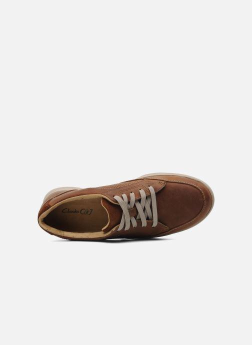 Sneaker Clarks Unstructured Stafford Park5 braun ansicht von links