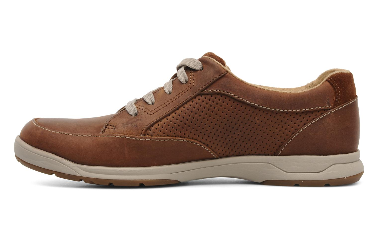 Baskets Clarks Unstructured Stafford Park5 Marron vue face