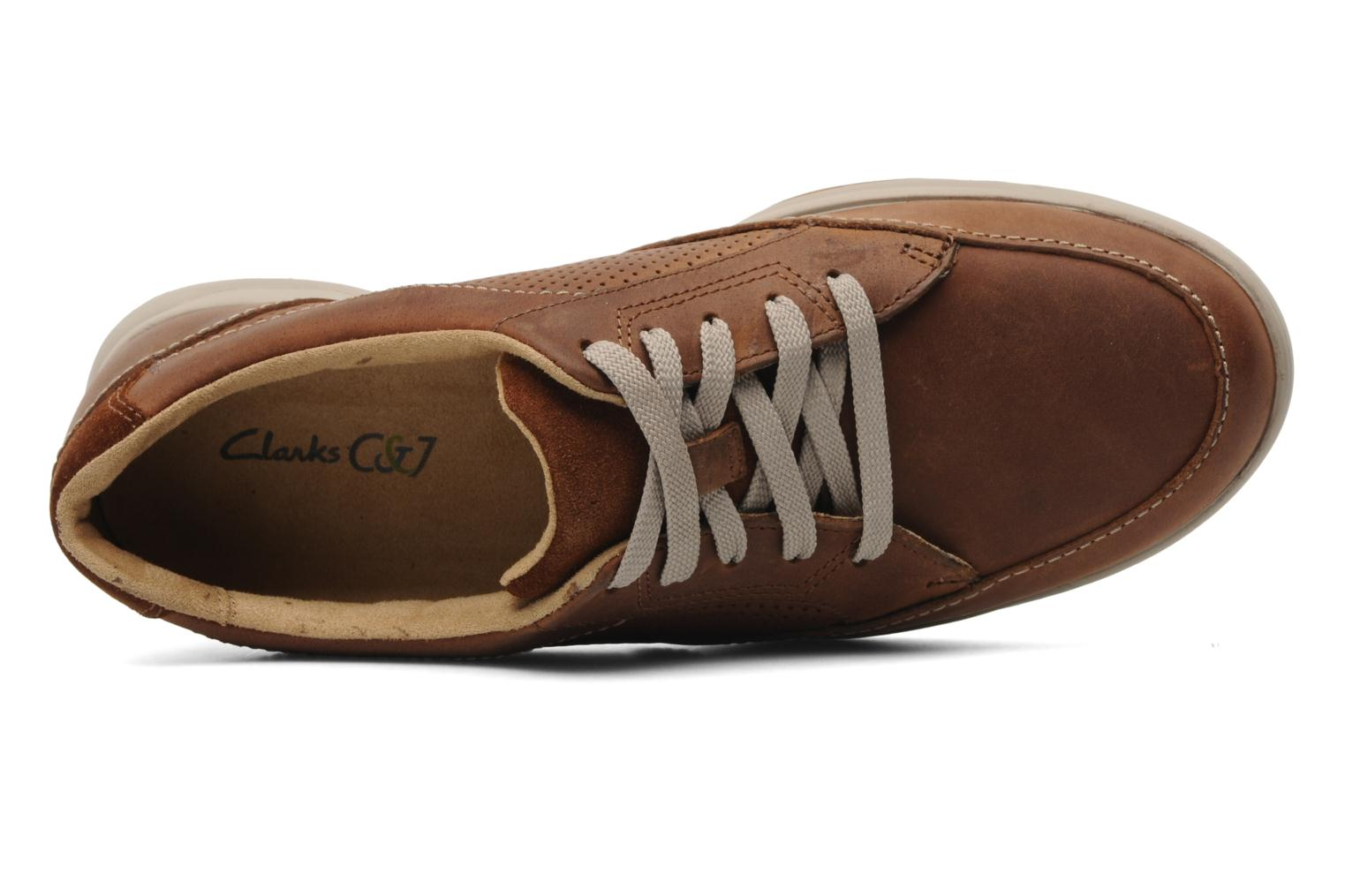 Baskets Clarks Unstructured Stafford Park5 Marron vue gauche