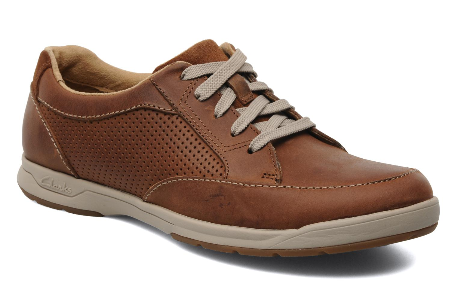 Baskets Clarks Unstructured Stafford Park5 Marron vue détail/paire