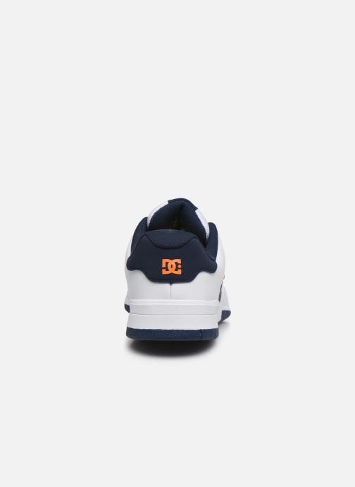 Chanclas DC Shoes Central Blanco vista lateral derecha