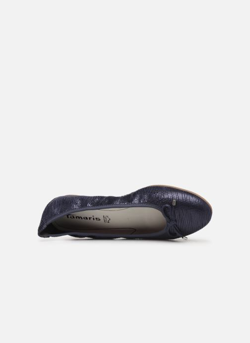 Ballerina's Tamaris Hecyl Blauw links