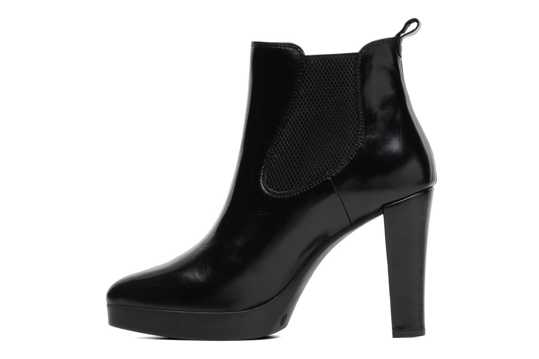 Bottines et boots Georgia Rose Tabatière Noir vue face