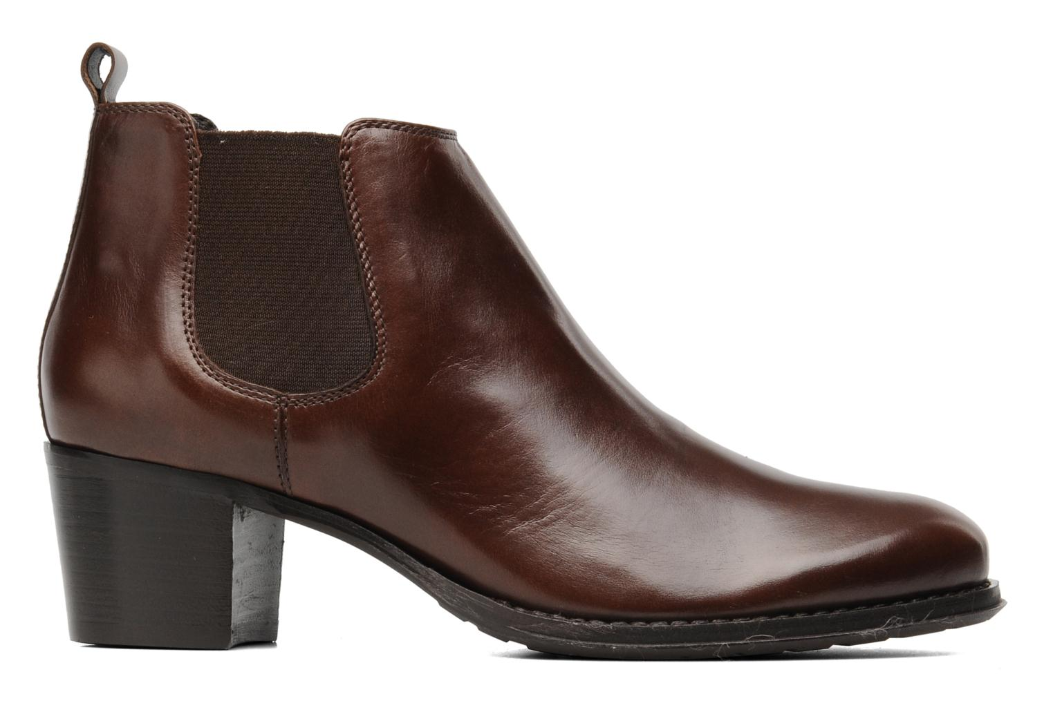 Ankle boots Georgia Rose Tabou Brown back view