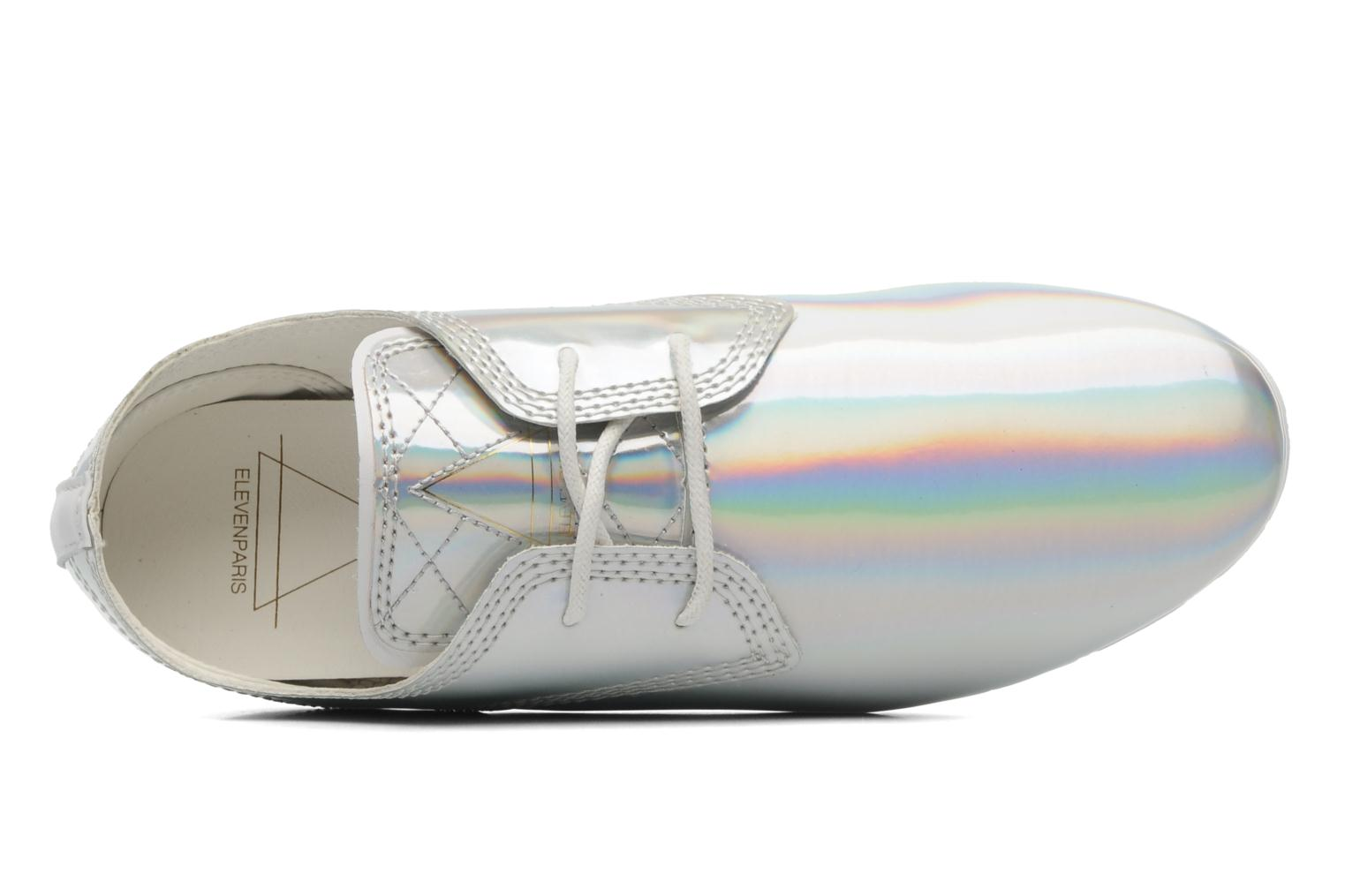 Trainers Eleven paris Basic Patent Holo F Silver view from the left
