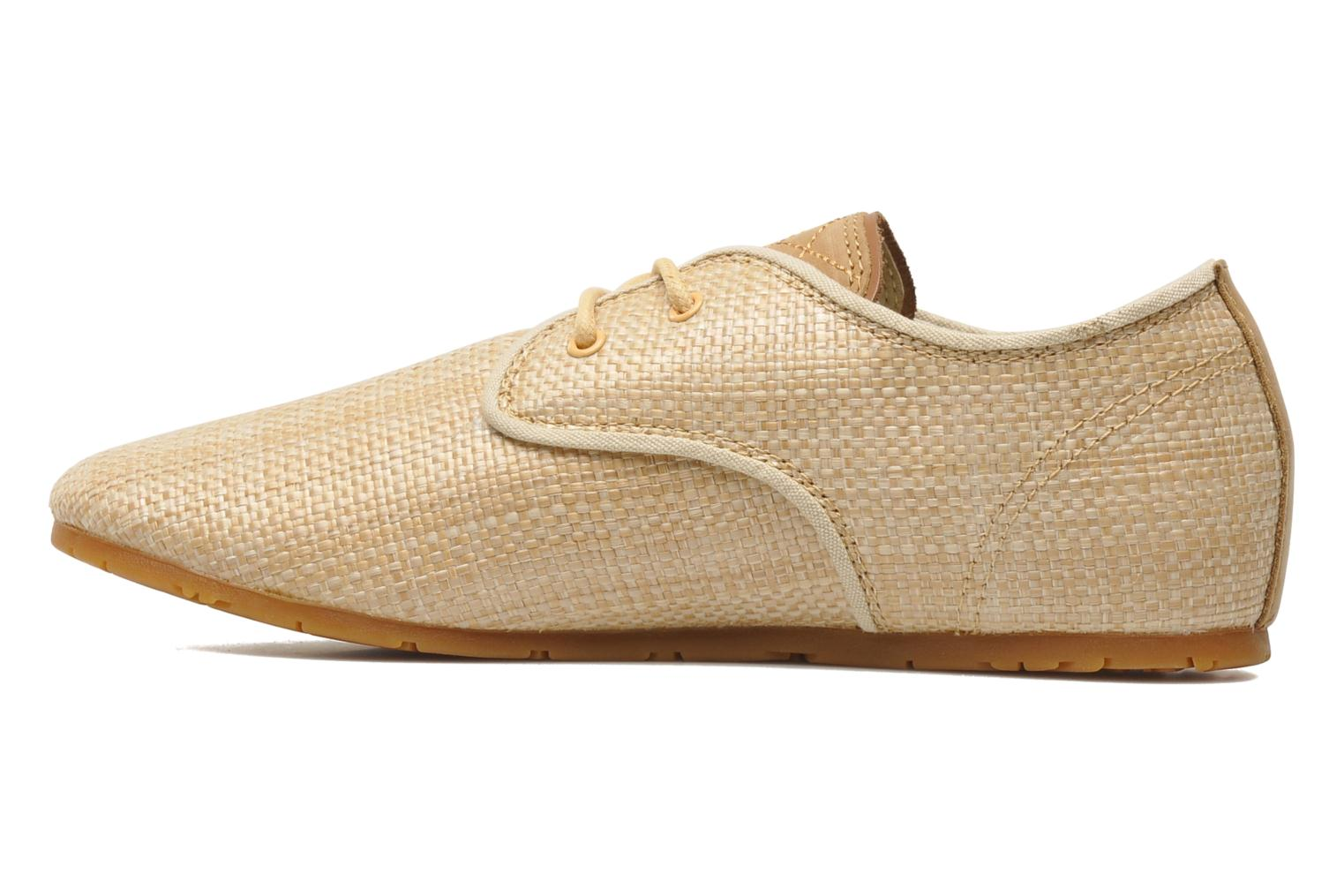 Trainers Eleven paris Basic Raffia F Beige front view