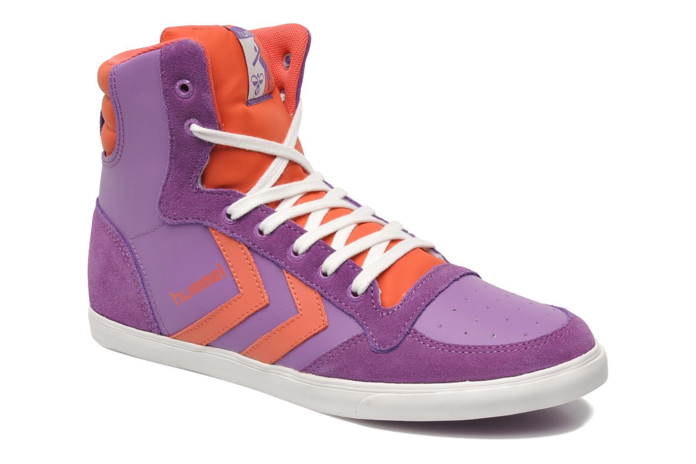 Sneakers Hummel HUMMEL SLIMSTADIL JR LEATH HG Lilla detaljeret billede af skoene