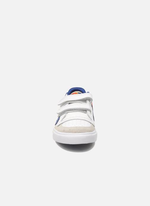 Baskets Hummel Stadil JR Leather Low Blanc vue portées chaussures