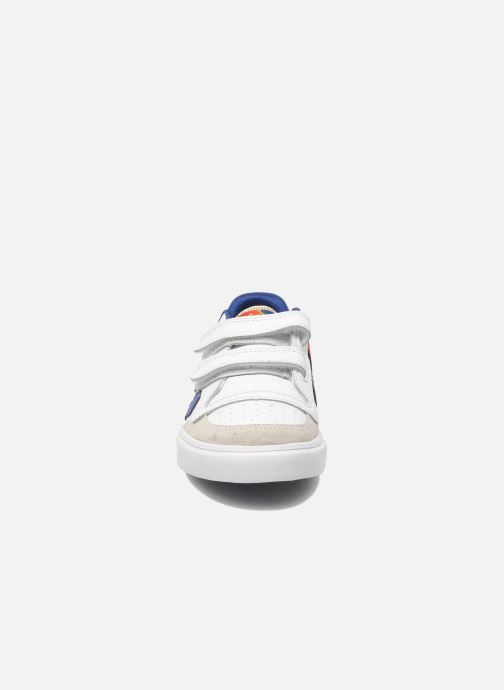 Baskets Hummel Stadil JR Leather Low Blanc vue portées chaussures