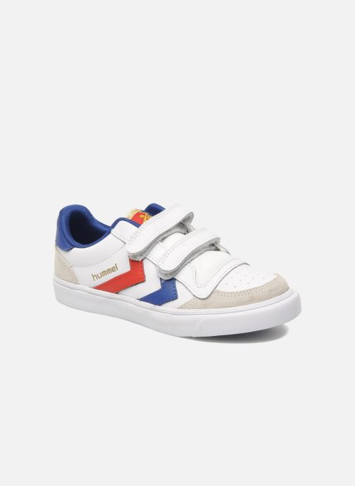Baskets Hummel Stadil JR Leather Low Blanc vue détail/paire