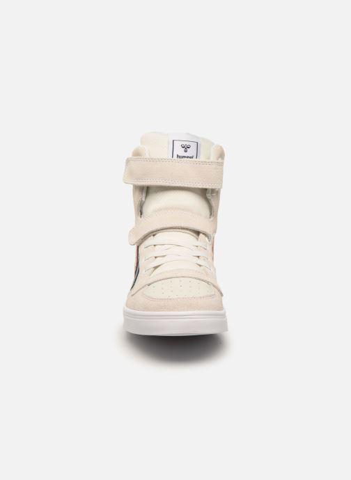 Baskets Hummel Stadil JR Leather High Blanc vue portées chaussures