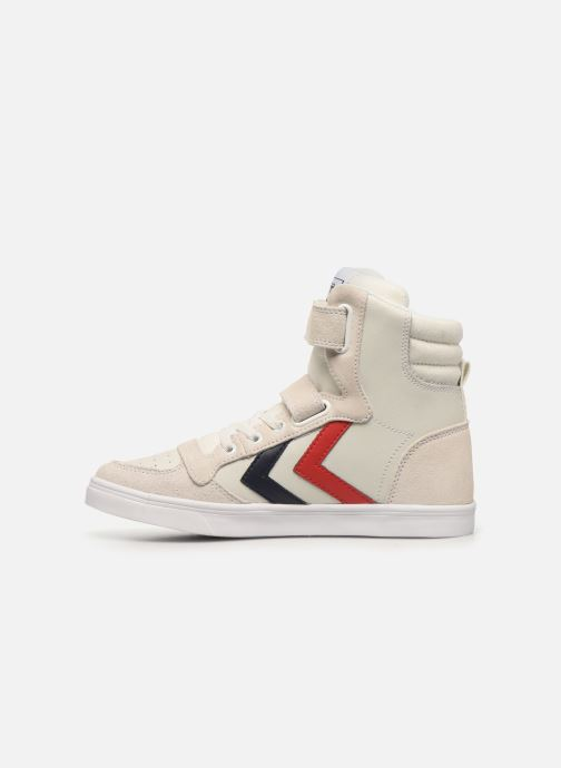 Sneakers Hummel Stadil JR Leather High Wit voorkant