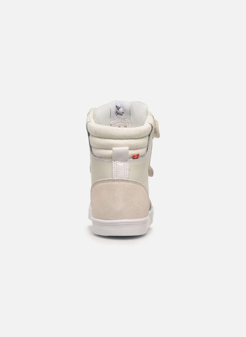 Baskets Hummel Stadil JR Leather High Blanc vue droite