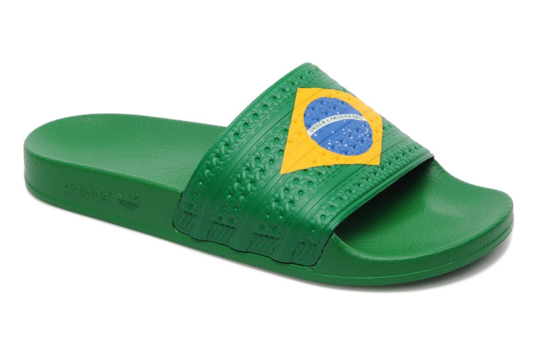 8f3862aaa ... release date sandaler adidas originals adilette flags grøn detaljeret  billede af skoene be4bc 7fa4a