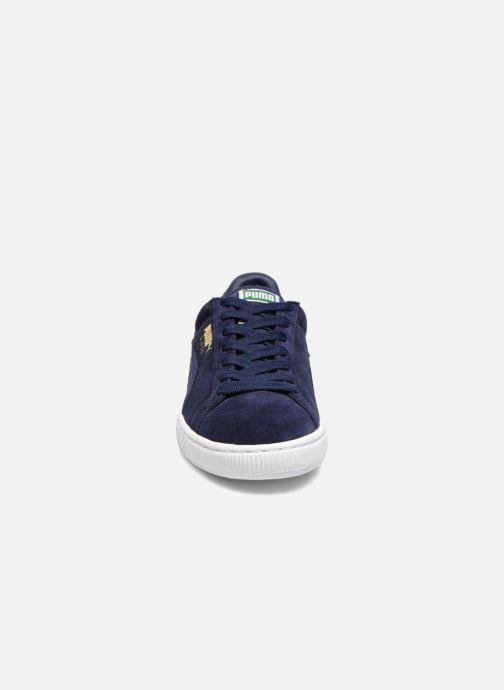 Sneakers Puma Suede Classic+ Azzurro modello indossato